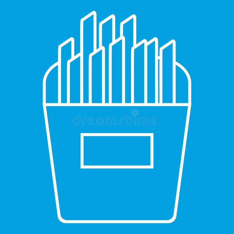 As batatas fritas diluem a linha ícone ilustração royalty free