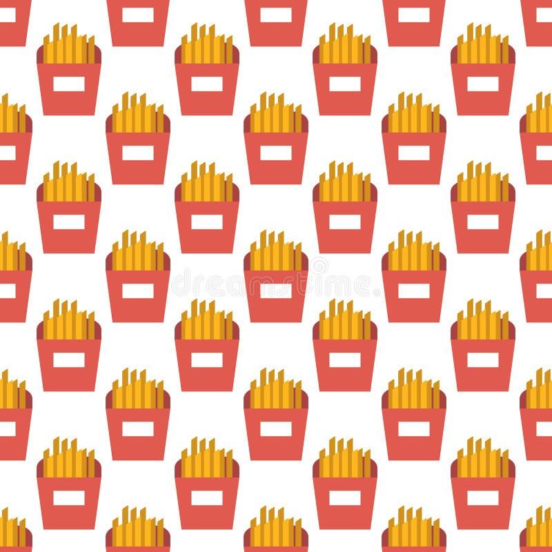 As batatas fritas modelam sem emenda ilustração stock