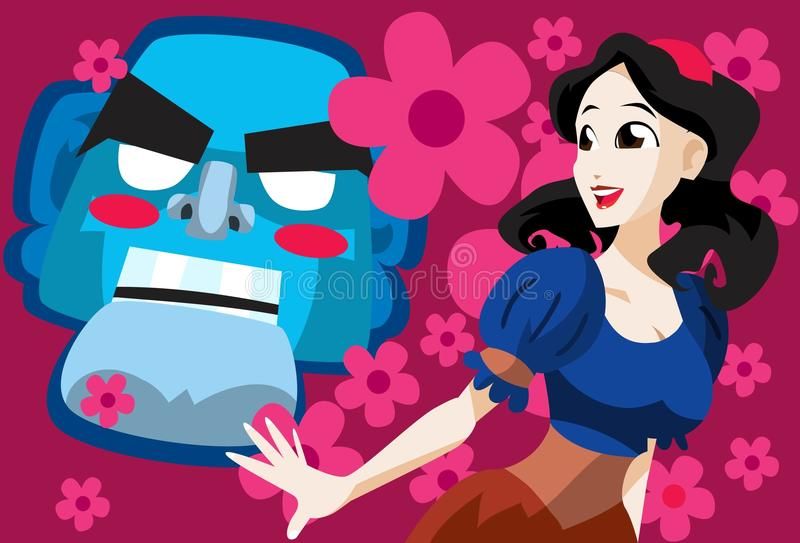 As Beautiful As Snow White vector illustration