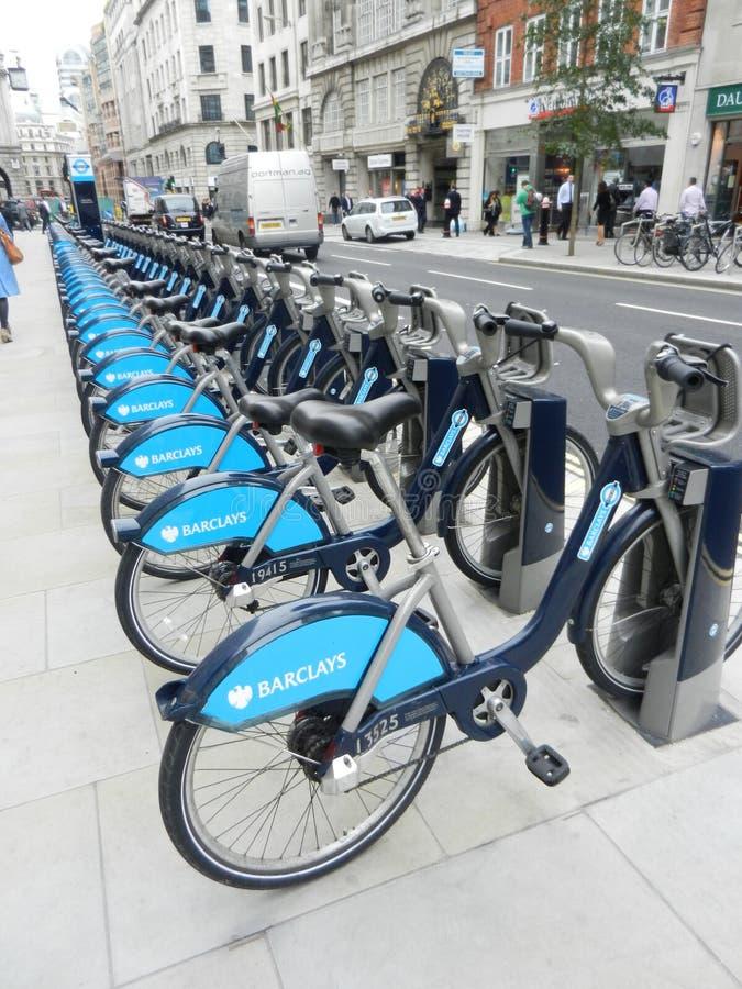 As bicicletas de Barclay foto de stock