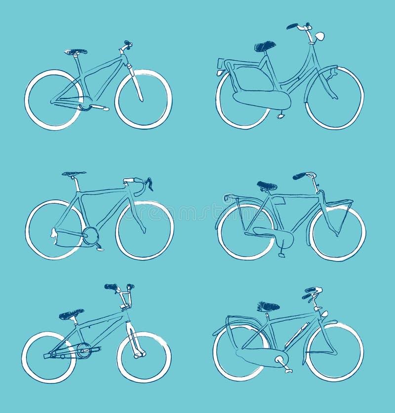 As bicicletas entregam desenhado ilustração royalty free