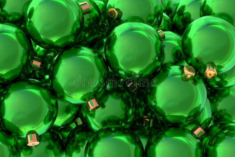 As bolas 3D do Natal rendem ilustração royalty free