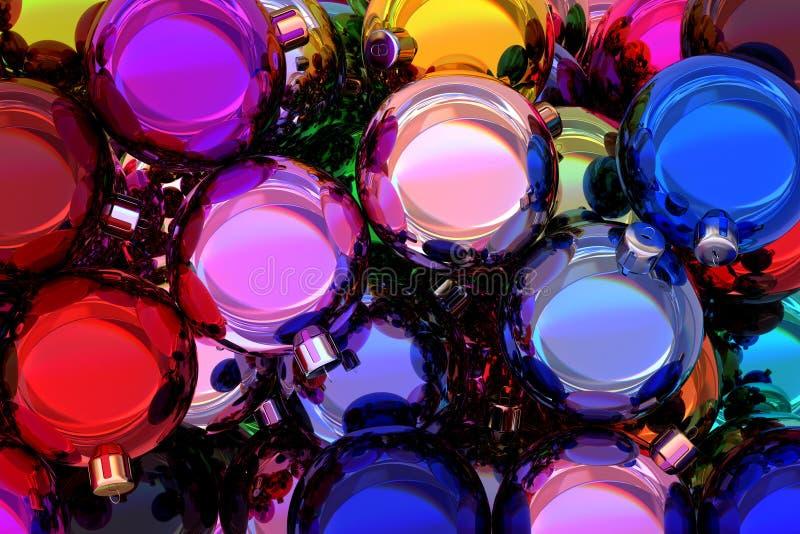 As bolas 3D do Natal rendem ilustração do vetor