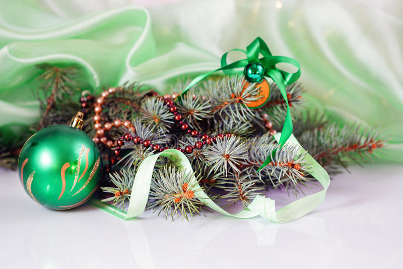 As bolas de ano novo imagem de stock