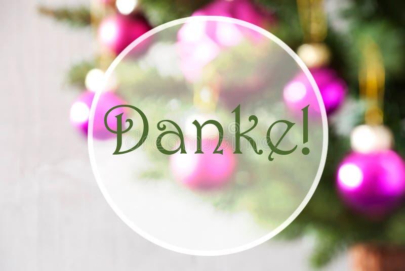 Download As Bolas Obscuras, Rose Quartz, Meios De Danke Agradecem-lhe Imagem de Stock - Imagem de christmas, cartão: 80102771