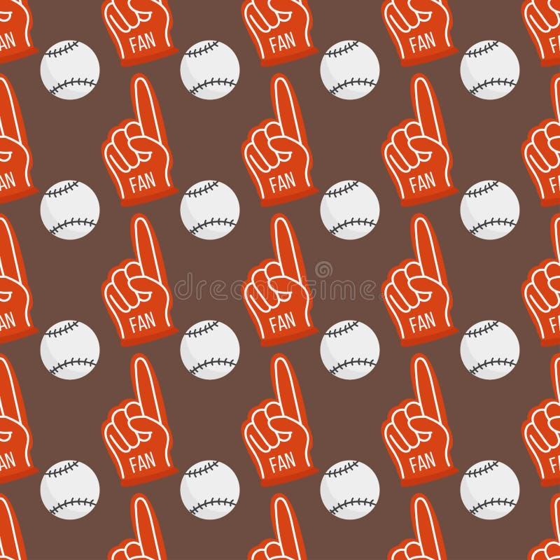 As bolas sem emenda do basebol modelam a ilustração do vetor do jogo do equipamento do fundo ilustração royalty free