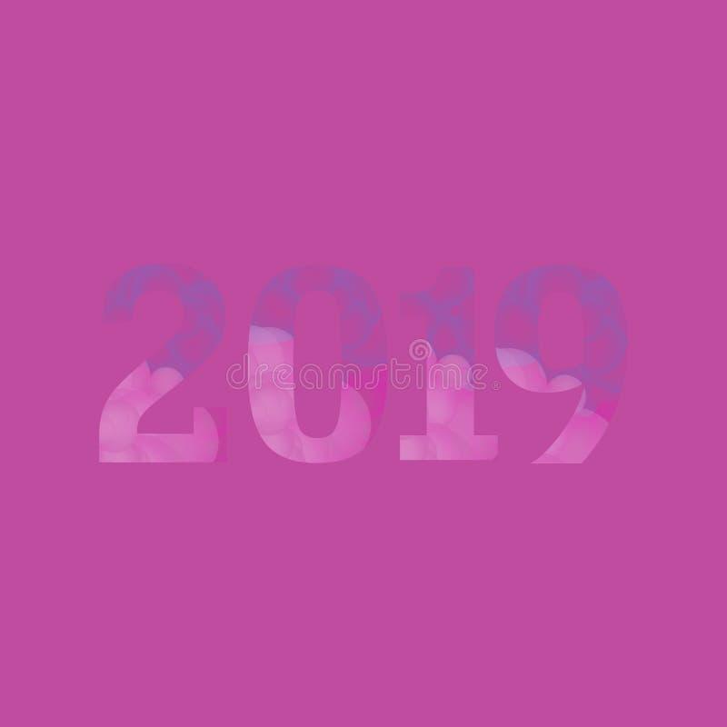 As bolhas cor-de-rosa Textured 2019 ilustração do vetor