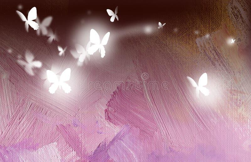 As borboletas livram em voo ilustração do vetor