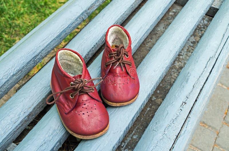 As botas das crianças imagens de stock royalty free