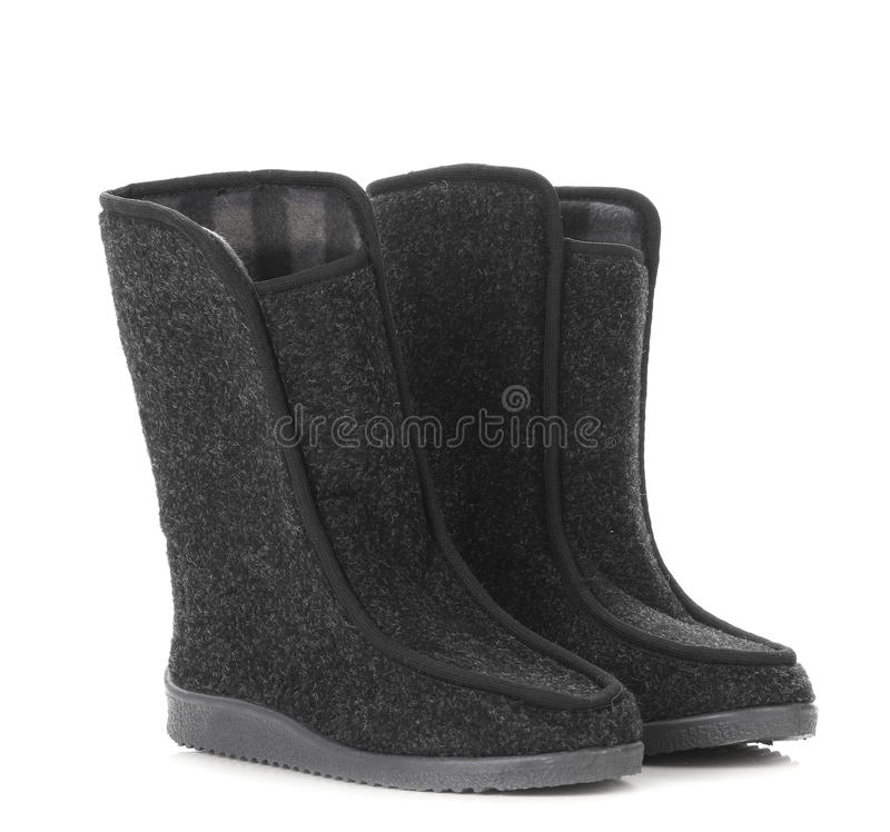 As botas do homem do inverno. foto de stock royalty free