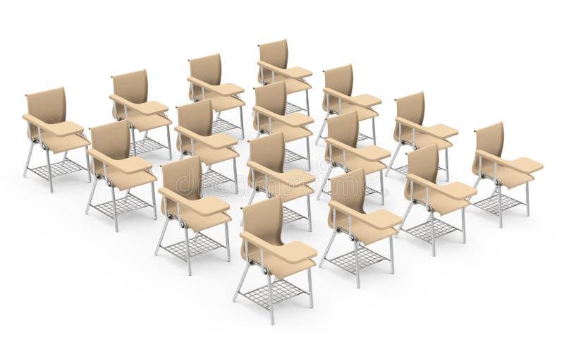As cadeiras de tabela ilustração do vetor