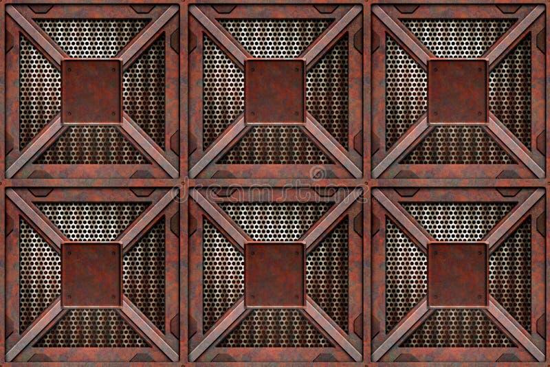 As caixas de oxidação transportam caixas ilustração stock