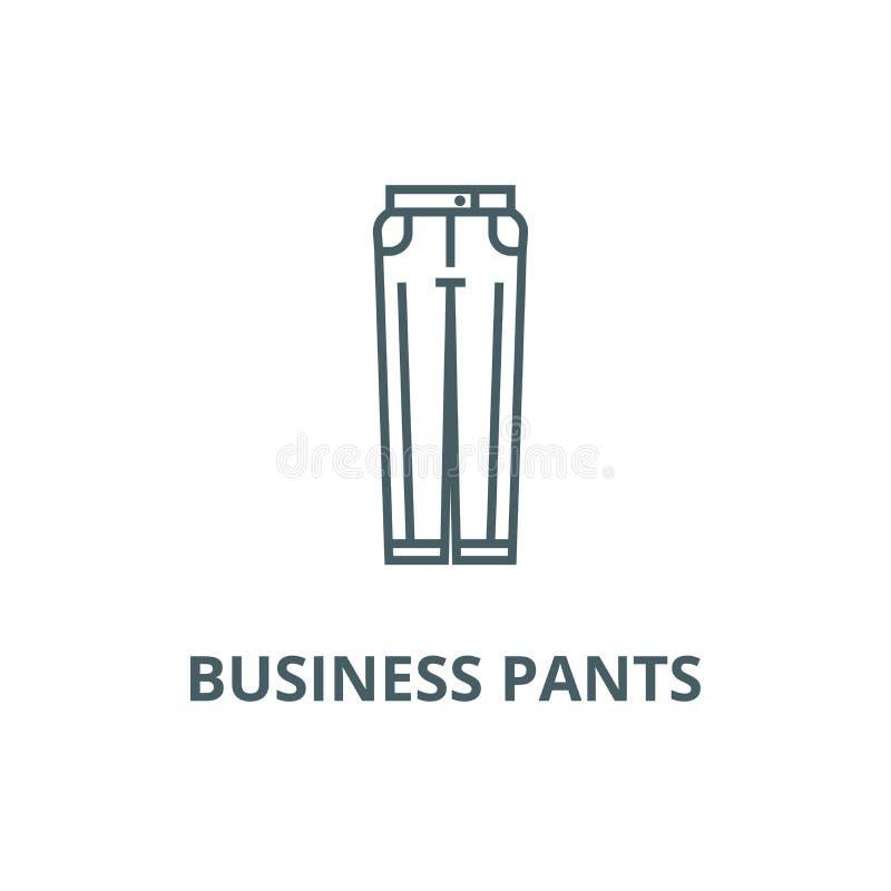 As calças do negócio alinham o ícone, vetor As calças do negócio esboçam o sinal, símbolo do conceito, ilustração lisa ilustração do vetor