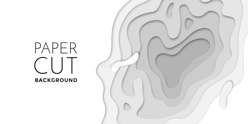 as camadas do papercut 3D, papel cortaram o molde do Web site da textura da bandeira do fundo da arte do vetor ilustração do vetor