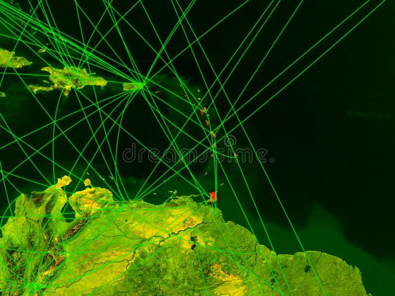 As Caraíbas no mapa digital ilustração royalty free