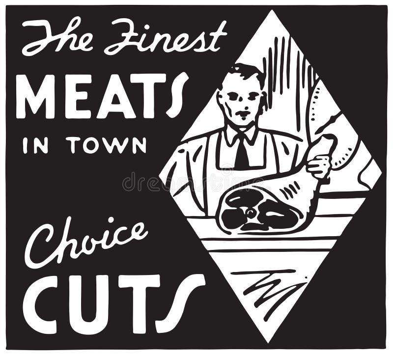 As carnes as mais finas na cidade 2 ilustração stock