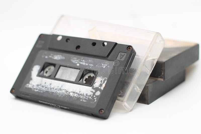 As cassetes de banda magnética, são uma gravação análoga da banda magnética, versão 2 fotografia de stock royalty free