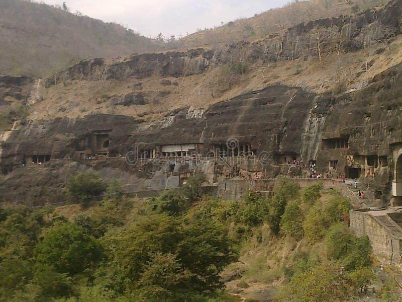 As cavernas antigas do ellora fotos de stock royalty free
