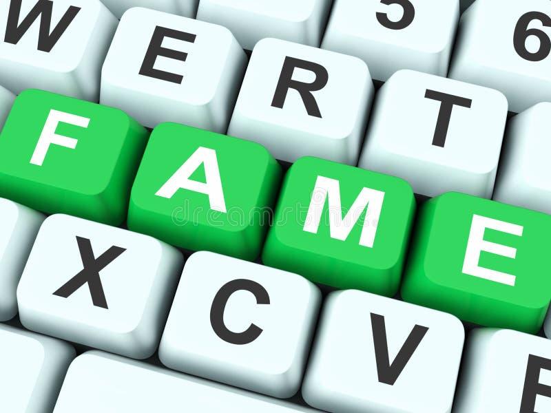 As chaves da fama mostram famoso ou popular imagem de stock royalty free