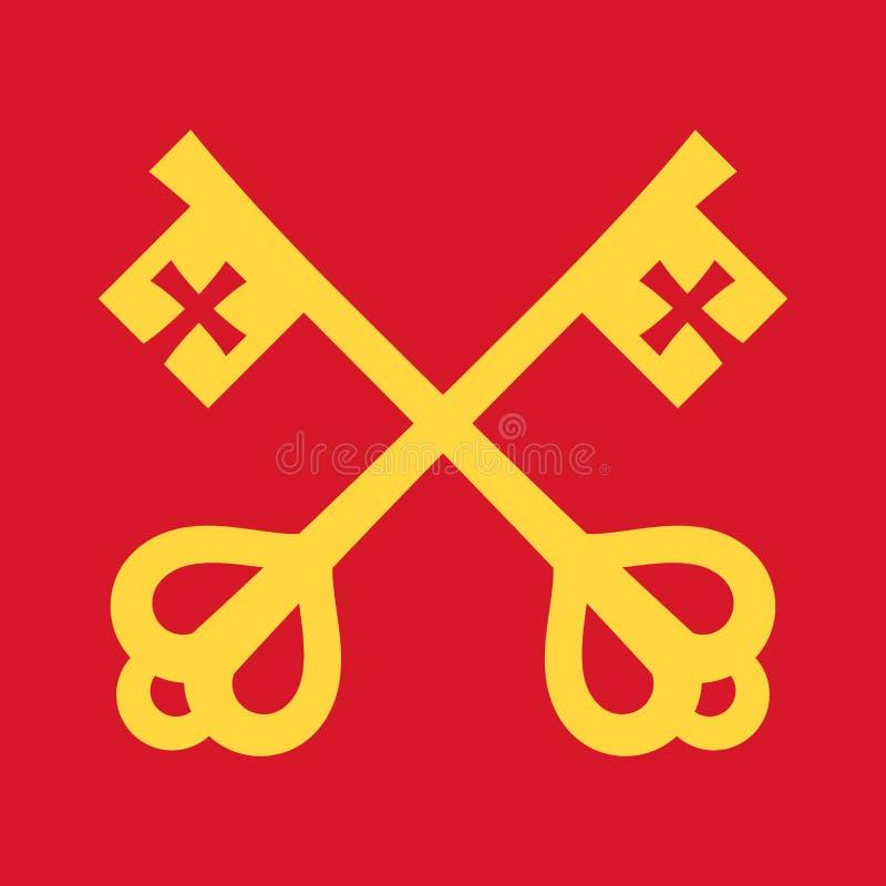 As chaves de Saint Peter Keys ao reino dos céus ilustração do vetor