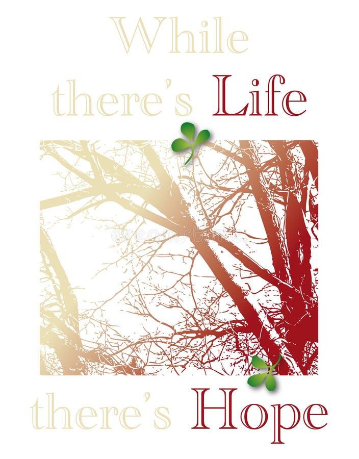 As citações da vida e da esperança incentivam ilustração royalty free