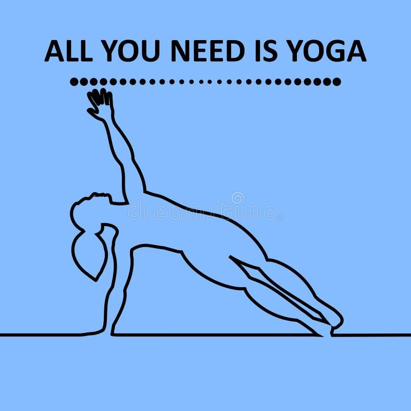 As citações, tudo que você precisa são ioga ilustração do vetor