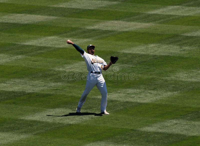 Download As Coco Crisp Throws The Ball Editorial Photography - Image of grass, catcher: 14859547
