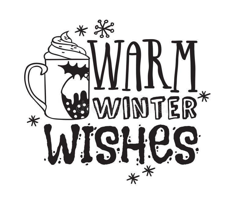 As coisas de Natal desenhadas à mão sobre fundo branco Arte de tinta criativa Desenho de rabisco vetorial real e texto Feriados W ilustração stock