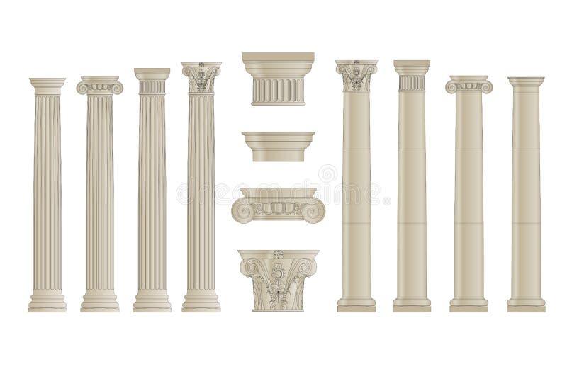 As colunas ajustaram 1 ilustração stock