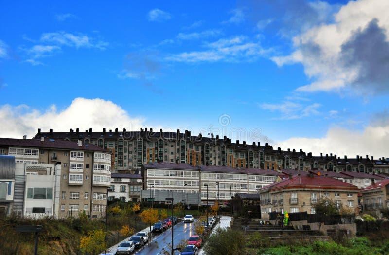 As construções residenciais de Porto fazem a Espanha do filho foto de stock