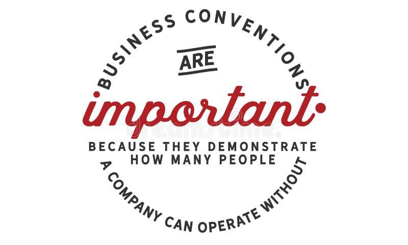 As convenções do negócio são importantes porque demonstram quantos povos ilustração do vetor