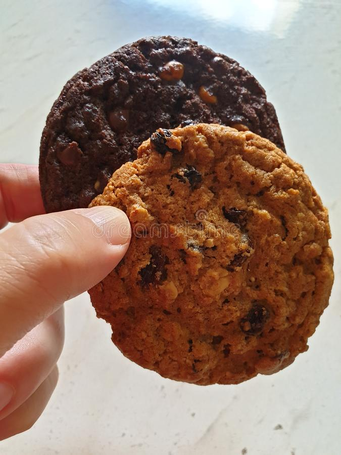 As cookies deliciosas que o fazem feliz imagem de stock royalty free
