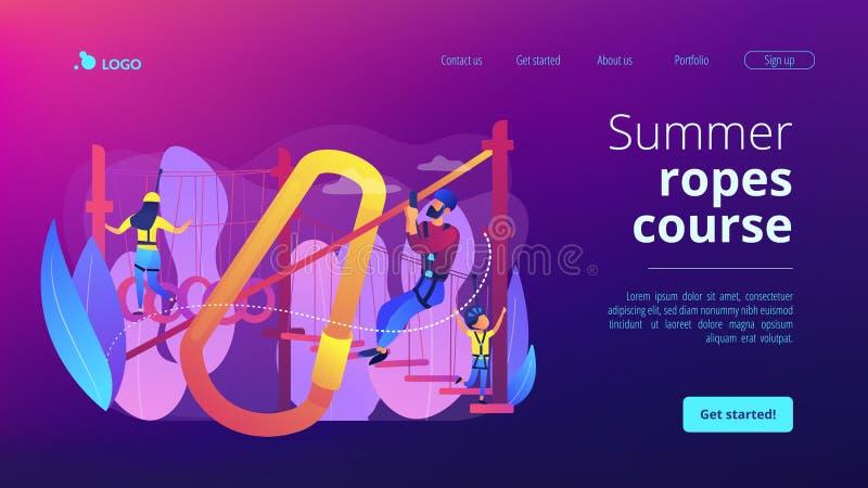 As cordas do verão percorrem a página da aterrissagem do conceito ilustração royalty free