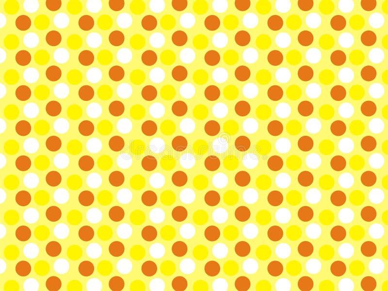 As cores da arte 3 de Polcadot amarelam o papel de parede imagem de stock royalty free