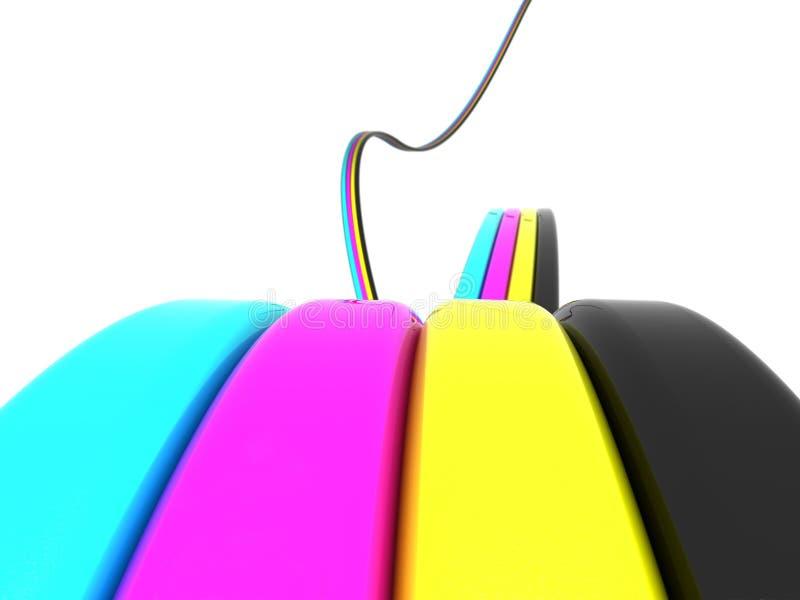 Download As cores de Cmyk fluem ilustração stock. Ilustração de ciano - 16859626
