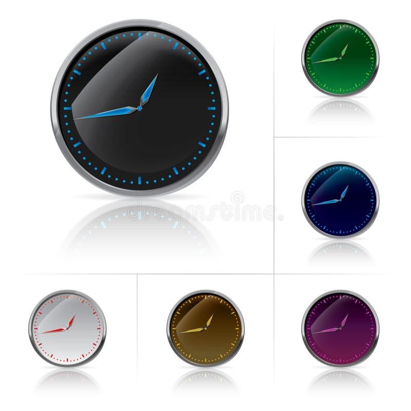 As cores diferentes cronometram o jogo ilustração royalty free