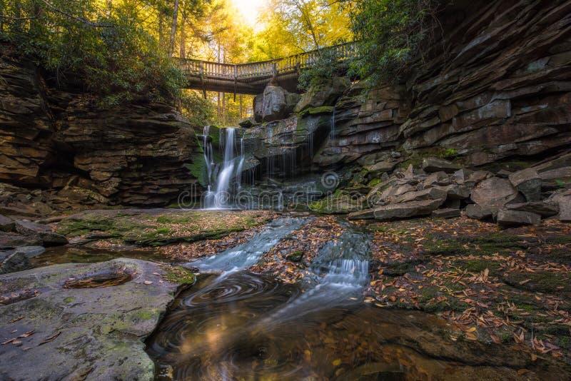 As cores do outono em Elakala caem em West Virginia imagem de stock