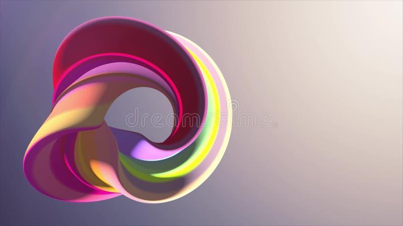 As cores macias curvaram a qualidade nova do fundo da ilustração da rendição da forma 3D do sumário dos doces do marshmallow ilustração do vetor