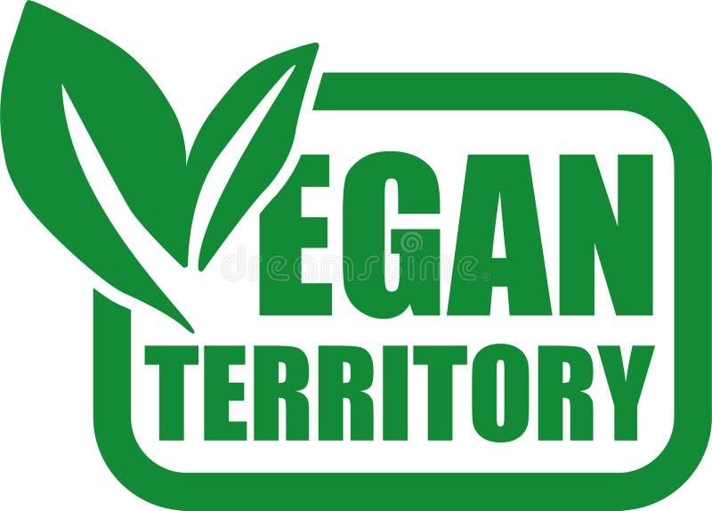 as cores verdes do quadro do logotipo do território do vegetariano folheiam ilustração stock