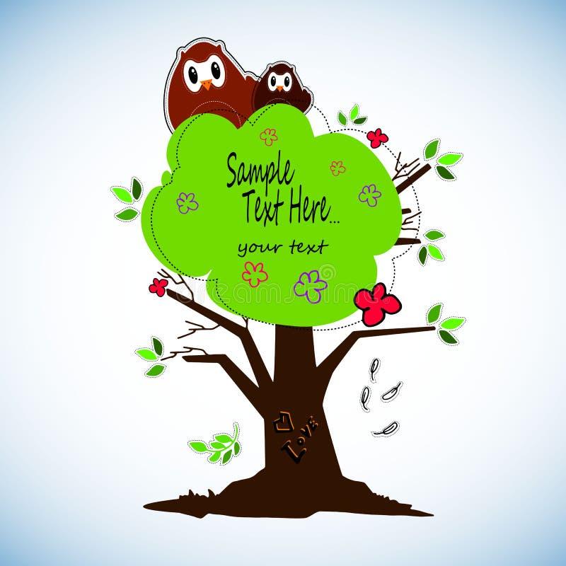 As corujas bonitos dos desenhos animados ajustaram-se para festas do bebê, aniversários e projetos do convite ilustração royalty free