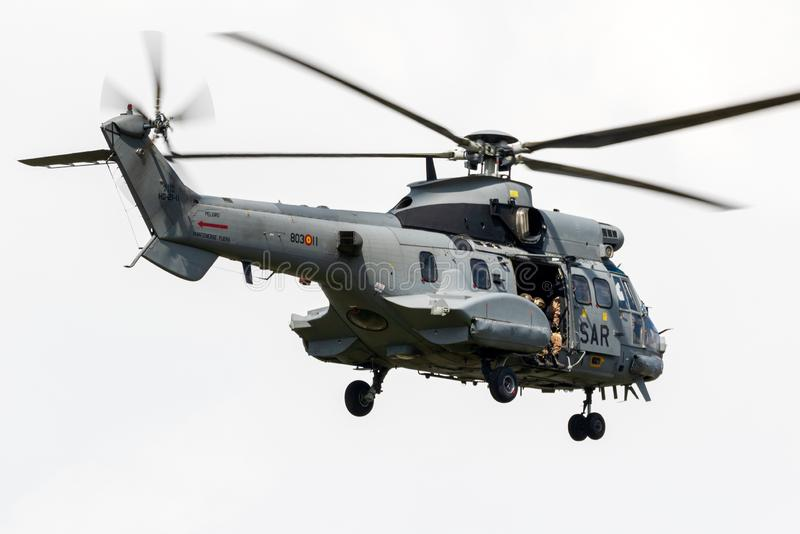 AS.532 Cougar military combat search and rescue helicopter stock images