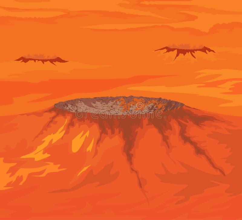 As crateras do Vênus ilustração stock