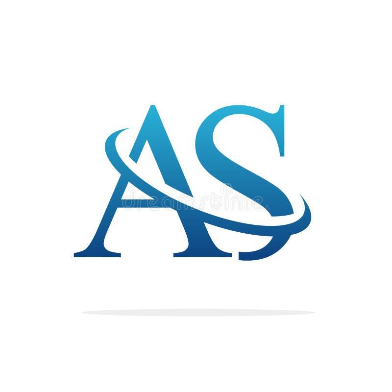 AS Creative logo design vector art royalty free stock photography