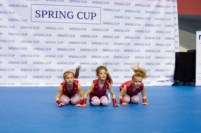 As crianças competem na competição internacional da dança de SpringCup imagem de stock royalty free