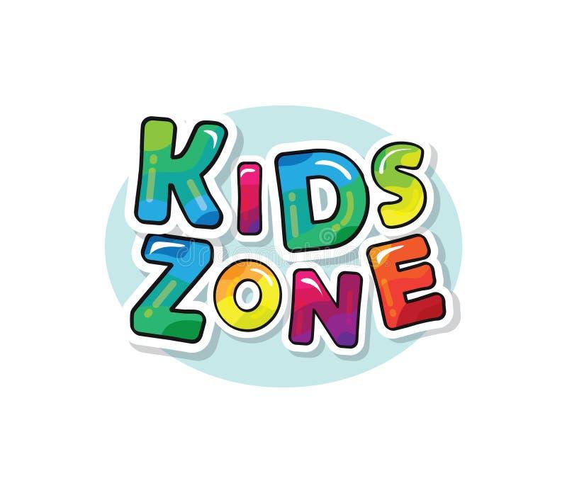 As crianças dividem a inscrição colorida brilhante O papel dos desenhos animados cortou letras Vetor ilustração royalty free