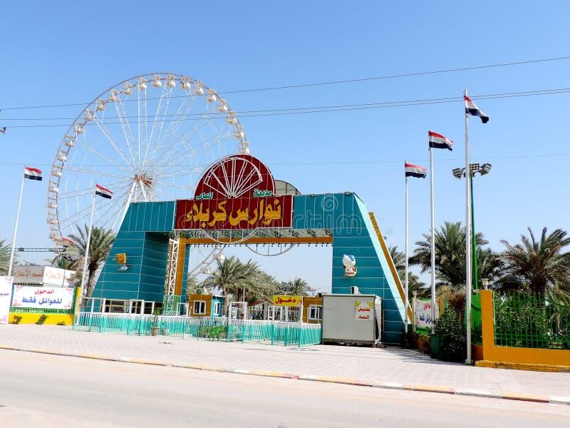 As crianças estacionam em Najaf, Iraque fotografia de stock