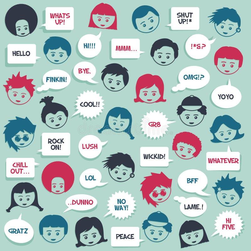 As crianças falam ilustração stock