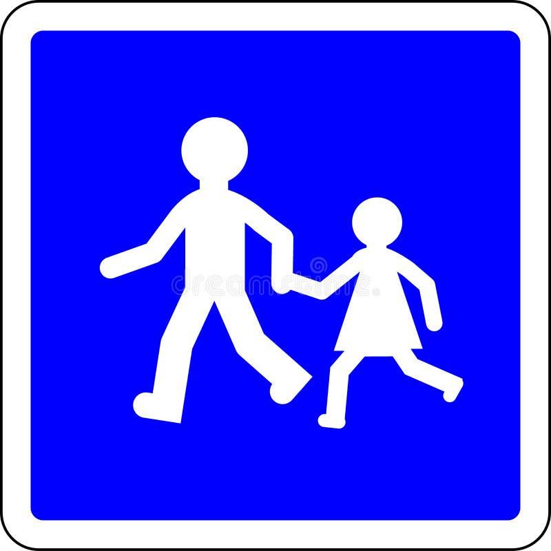 As crianças jogam o sinal permitido ilustração do vetor