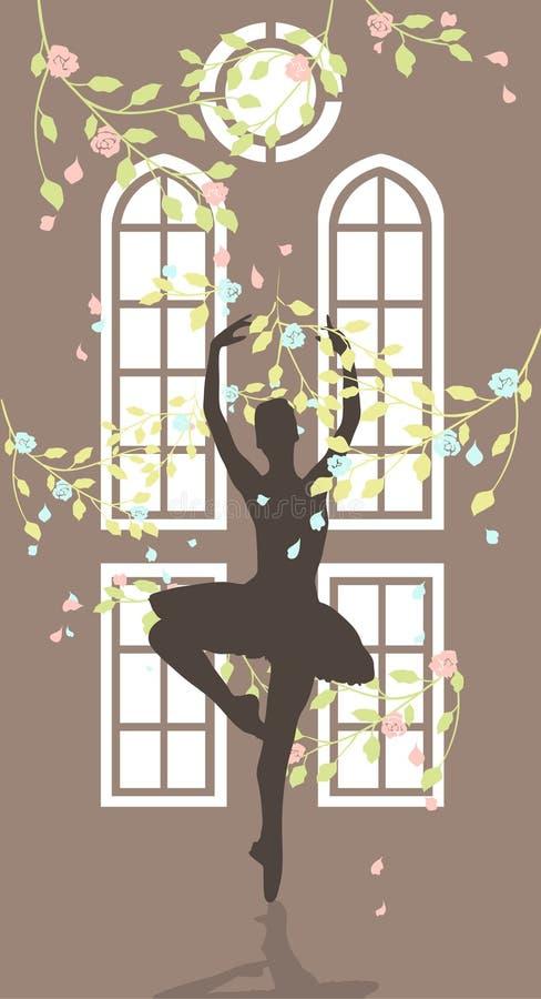 As danças da mulher foto de stock