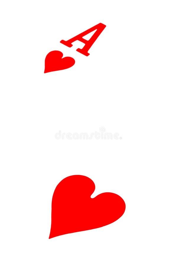 As de corazones imagen de archivo